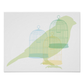 Elegant bird design poster