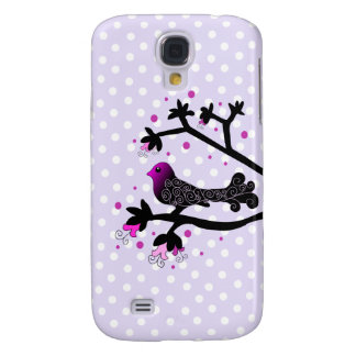 Elegant Bird on Branch Silhouette Samsung Galaxy S4 Cover