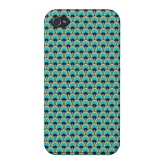 Elegant Bird Pavo Feather Graphic Pattern iPhone 4/4S Cover
