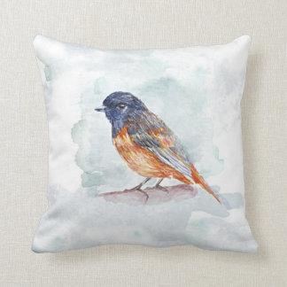 elegant bird watercolor art throw cushion pillow