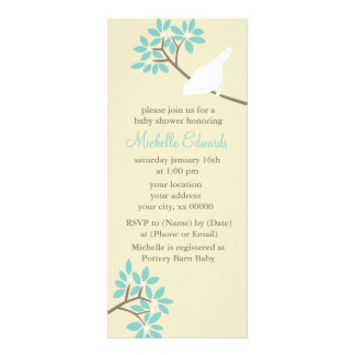 Elegant Birds Baby Shower Personalized Announcement