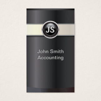 Elegant Black Accountant Business Card