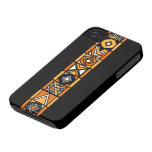 Elegant Black African art pattern iphone 4 case