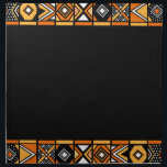"Elegant Black African pattern napkins<br><div class=""desc"">africa,  african,  pattern,  &quot;african pattern&quot;,  black,  orange,  yellow,  gold,  golden,  tribal,  tribe,  native,   ethnic,  ethnicity,  &quot;south africa&quot;,  zulu,  culture,  people,  geometric,  &quot;geometric pattern&quot;,  geometry,  simple,  cool,  stylish,  elegant,  contemporary,  modern,  art,  beads,  bead,  rasta,  &quot;african american&quot;,  safari,  &quot;south african&quot;,  abstract,  art</div>"