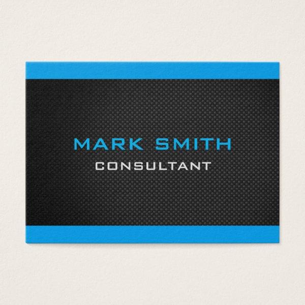 Elegant black and blue Business Card
