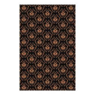 Elegant black and brown damask pattern. flyer
