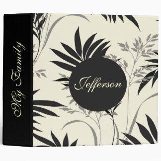 Elegant Black and Cream Photo Album binder