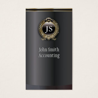 Elegant Black and Gold Accountant Business Card