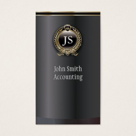 Elegant Black and Gold Accountant Business Card Template