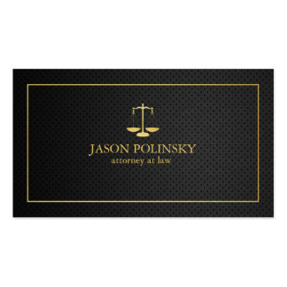 Elegant Black and Gold Attorney At Law Double-Sided Standard Business Cards (Pack Of 100)