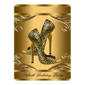 Elegant Black and Gold Birthday Party Card