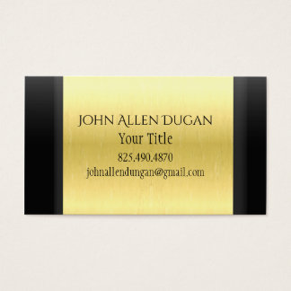 Elegant Black and Gold Business Card For Anyone
