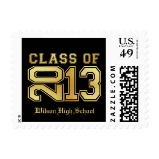 Elegant Black and Gold Class of 2013 Postage