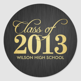 Elegant black and gold Class of 2013 Stickers