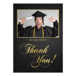 Elegant black and gold Class of 2014 Thank You Invitation