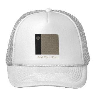 Elegant Black and Gold Damask Pop Trucker Hat