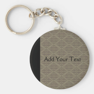 Elegant Black and Gold Damask Pop Keychain
