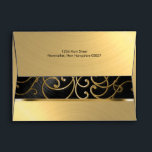 """Elegant Black and Gold Filigree Envelope<br><div class=""""desc"""">Bat Mitzvah Invitation Sets by Tailored Type. I am more than happy to help you with your Zazzle experience. Do you like the design but need a different color? Need it on a different size? Don&#39;t see the matching items like stamps or RSVP cards? Need Hebrew added to the invitation?...</div>"""