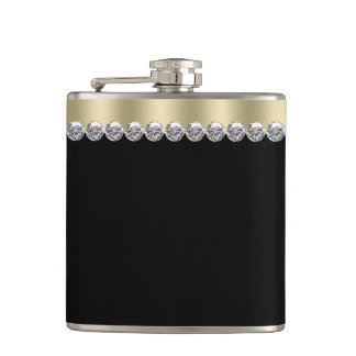 Elegant Black and Gold Flask