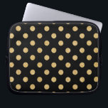 "Elegant Black And Gold Glitter Polka Dots Pattern Computer Sleeve<br><div class=""desc"">Elegant Black And Gold Glitter Polka Dots Pattern</div>"