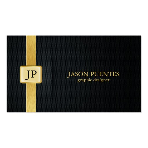 Elegant Black and Gold Graphic Designer Business Card