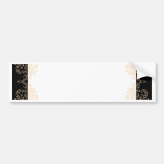 Elegant black and gold invitation template bumper sticker