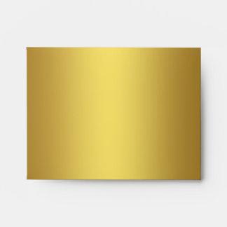 Elegant Black and Gold Linen Envelope
