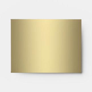 Elegant Black and Gold Linen RSVP Envelopes