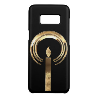 Elegant Black and Gold Look Candle with Halo Case-Mate Samsung Galaxy S8 Case
