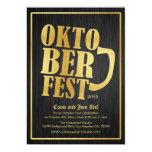 Elegant Black and Gold Oktoberfest Card Personalized Invitations