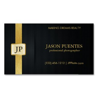 Elegant Black and Gold Professional Photographer