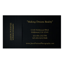 Elegant Black and Gold Professional Photographer Double-Sided Standard Business Cards (Pack Of 100)