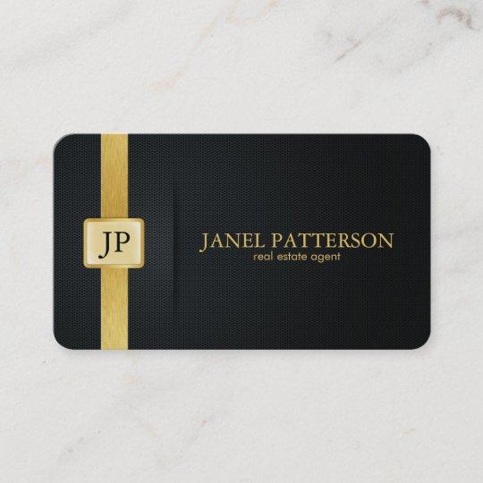 Elegant black and gold real estate agent business card zazzle elegant black and gold real estate agent business card colourmoves