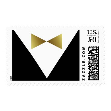 Wedding Themed Elegant Black and Gold Stamps | Formal Party Ideas