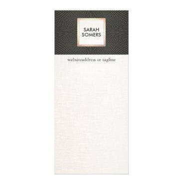 Elegant Black and Gold Stylish Modern Vintage Rack Card
