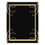 Elegant Black and Gold Swirl Custom Flyer
