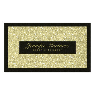 Elegant Black And Gold Tones Glitter & Sparkles Double-Sided Standard Business Cards (Pack Of 100)