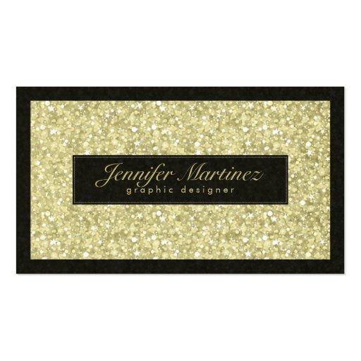 Elegant Black And Gold Tones Glitter & Sparkles Business
