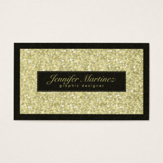 Elegant Black And Gold Tones Glitter & Sparkles Business Card