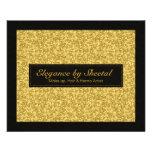 Elegant Black And Gold Tones Glitter & Sparkles Flyer