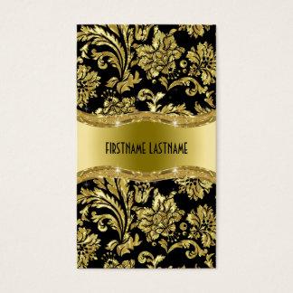 Elegant Black And Gold Vintage Damasks Business Card