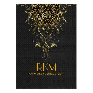 Elegant Black And Gold Vintage Lace Frame Large Business Cards (Pack Of 100)