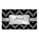 Elegant Black and Gray Chevron Pattern Business Card Templates