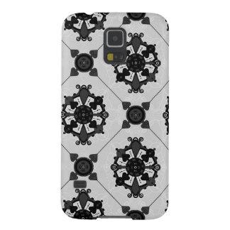 Elegant Black and Grey Medallion  Pattern Galaxy S5 Case