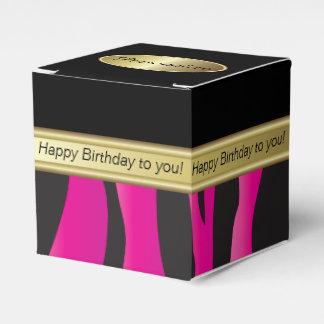 Elegant Black and Hot Pink Zebra Favor Box