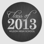 Elegant black and Metallic Silver Class of 2013 Stickers