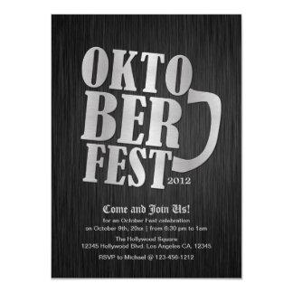 Elegant Black and Metallic Silver Oktober Fest Card