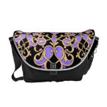 elegant black and purple messenger bag purse