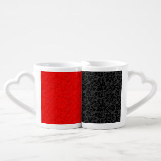 Elegant Black And Red Damasks Coffee Mug Set