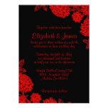 Elegant Black And Red Wedding Invitations Custom Invitation